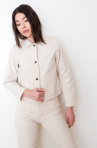 Shrunken Ranch Jacket -Natural Canvas