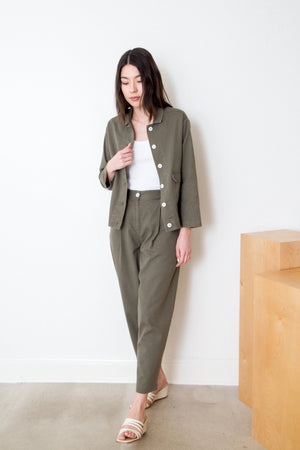 Cotton Twill Pants in Sage