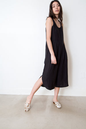 linen shift jumpsuit