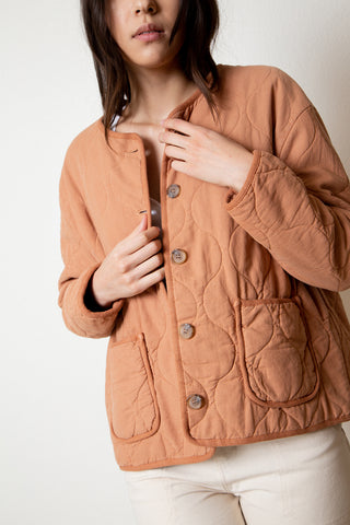 Quilted Jacket - Terracotta