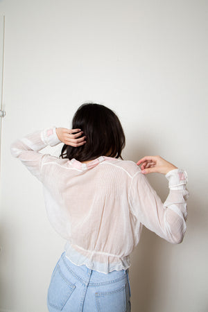 Antique Sheer Wrap Blouse