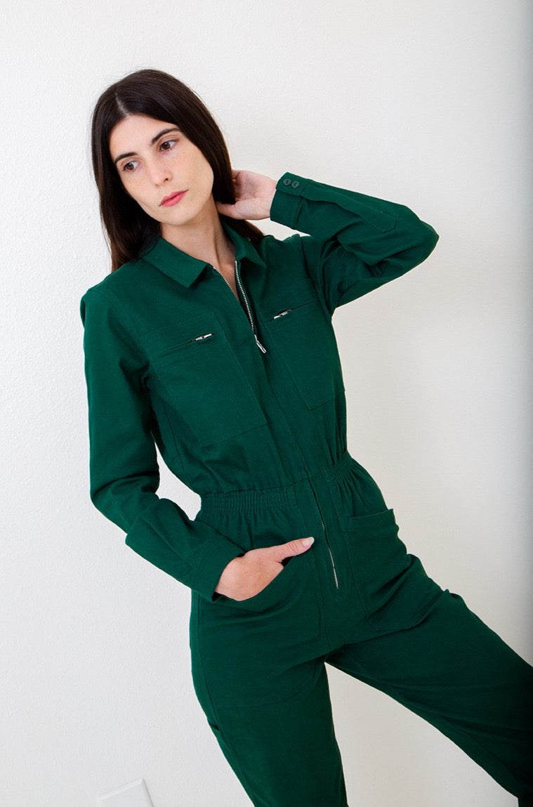 Deep Green Danny Boilersuit