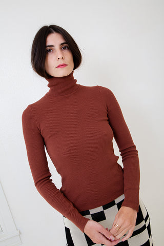 Soft Ribbed Turtleneck