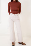 Crop Flare Jean in Salt