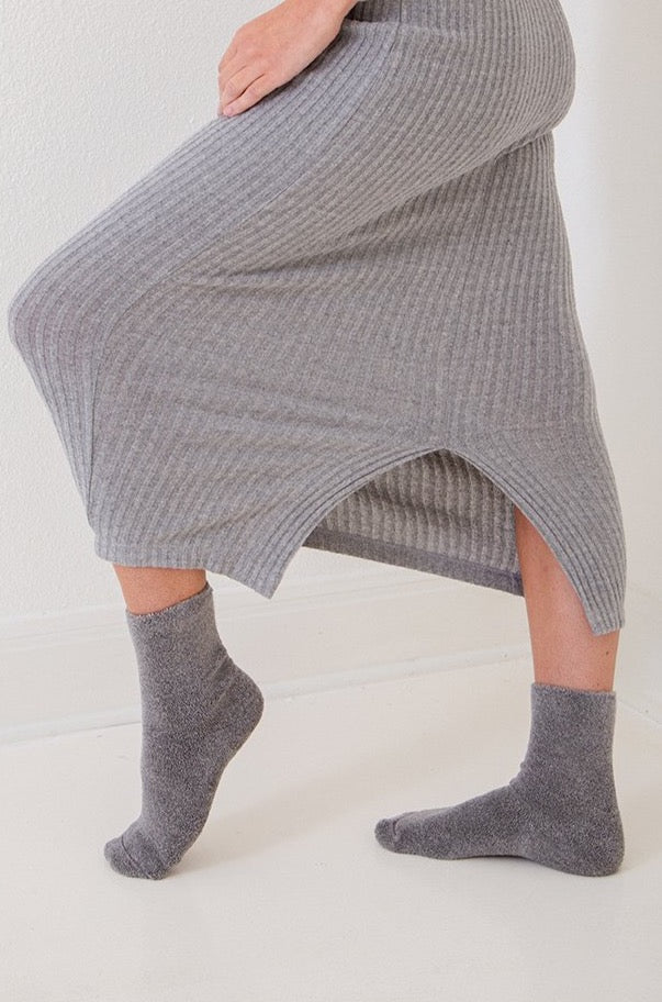 Over Ankle Socks - Grey Melange