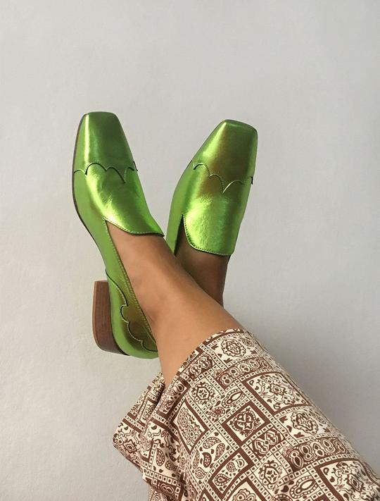 Leather Loafers in Fluor