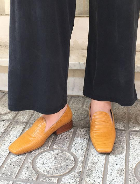Leather Loafers in Ochre