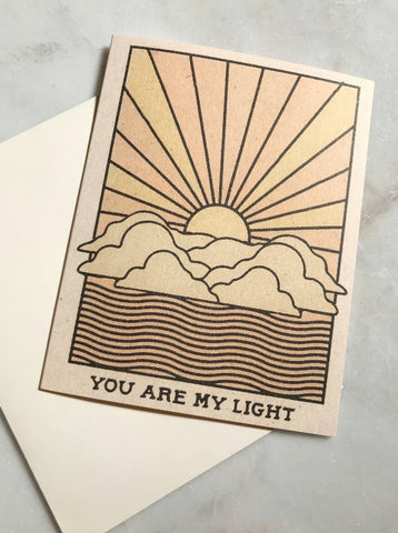 You Are My Light Card