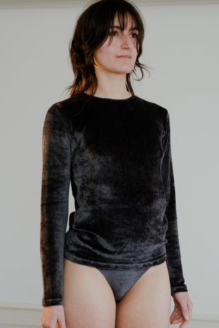 Omo velvet long sleeve tee
