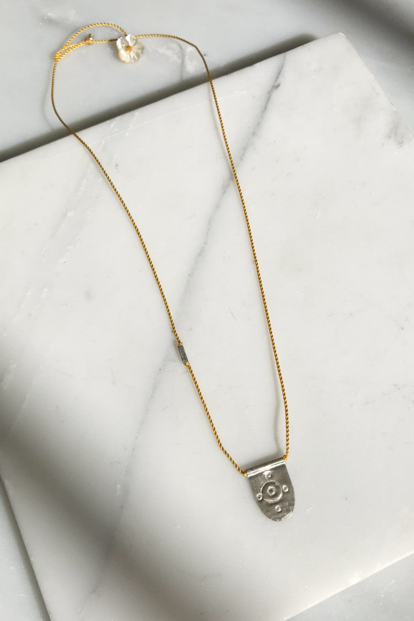 Silver Medallion Talisman Necklace