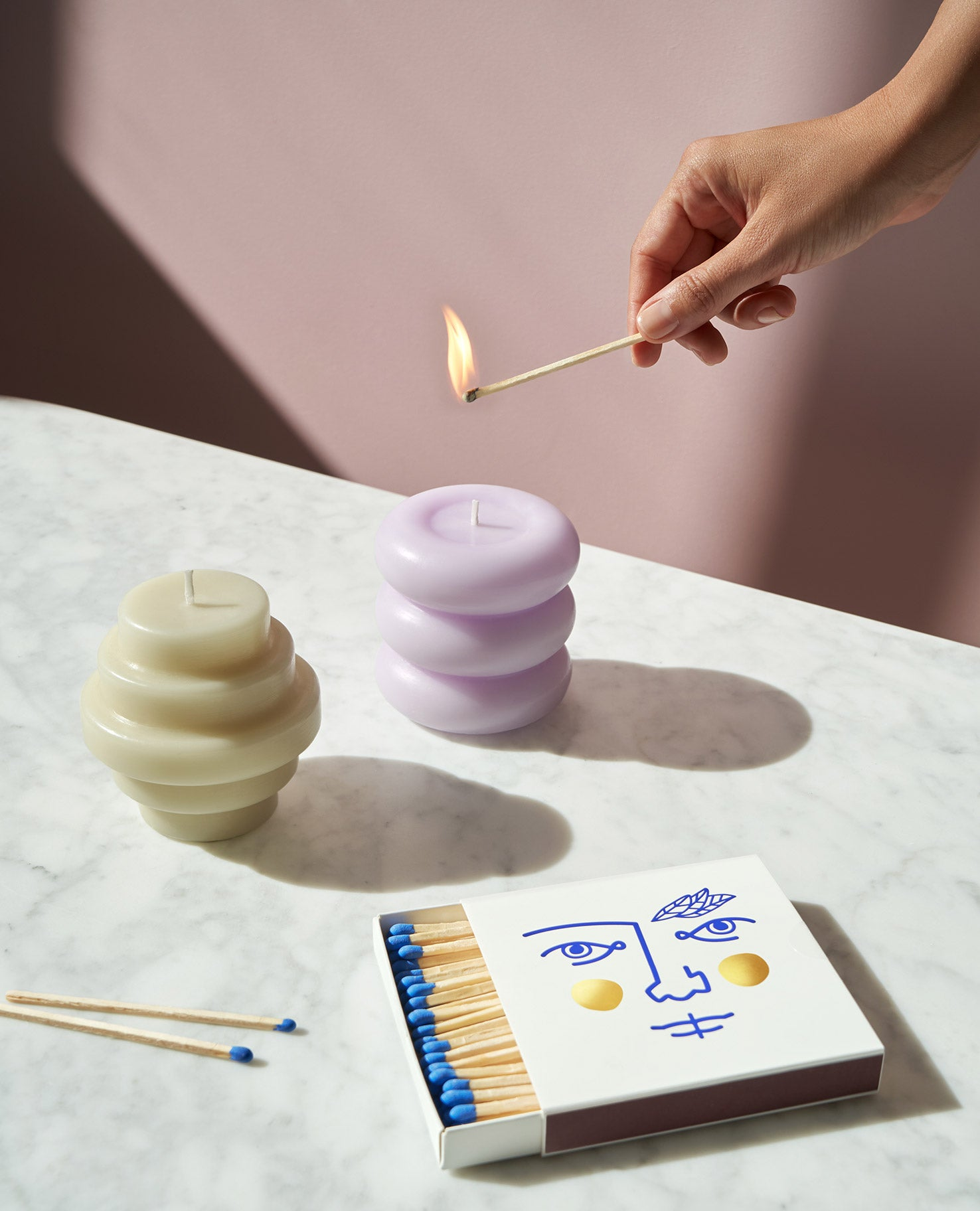 Templo Candle in Lavender
