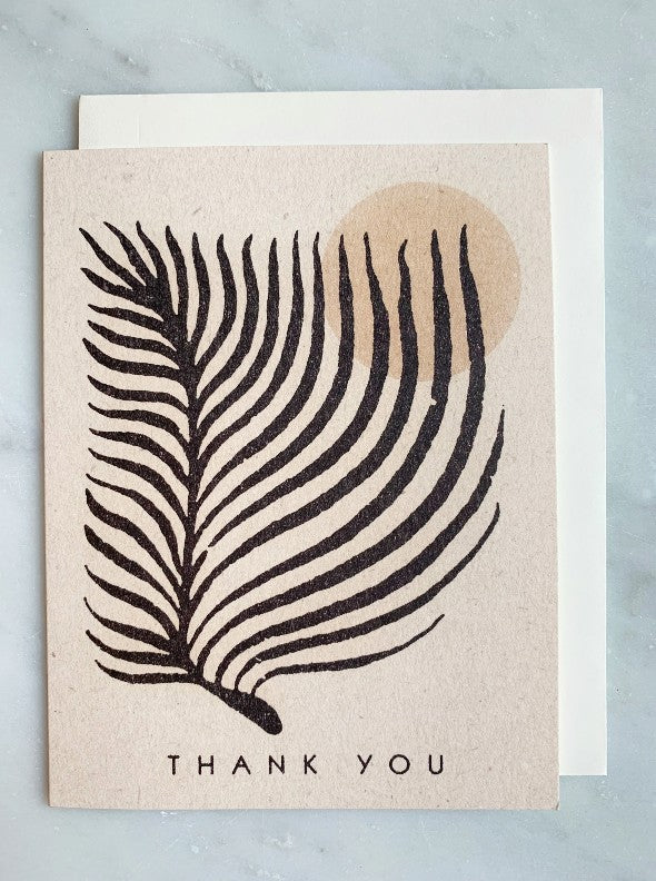 Palm Thank You Card