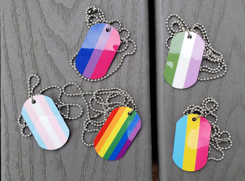 Pride Dog Tag Necklaces