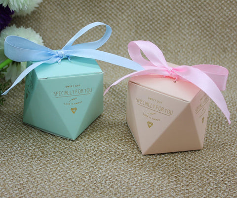 Pink Linen Favor Box or Gift Box