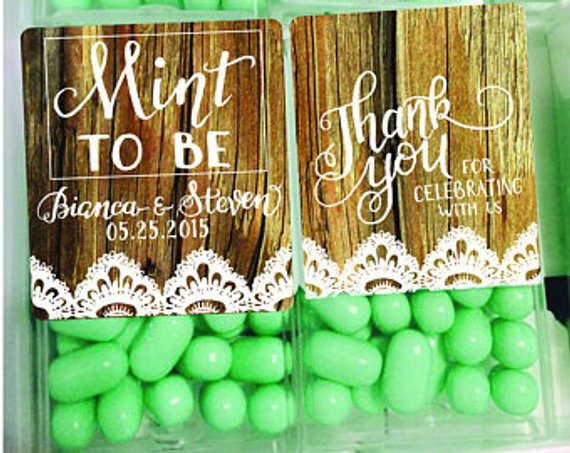 Personalized Wedding Favors Mint to Be Favors Wedding Decor Engagement Party Decor Wedding Mints Mint To Be Wedding Favors