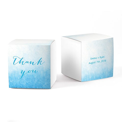 Aqueous Favor Box Wrap With Fold