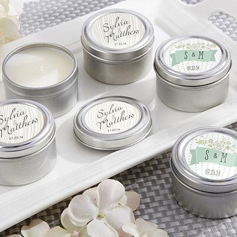 Rustic Candle Tins