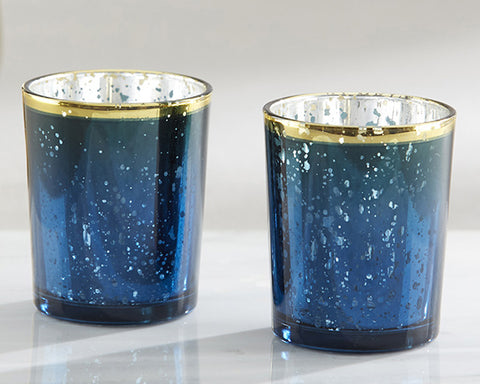 Blue Mercury Glass