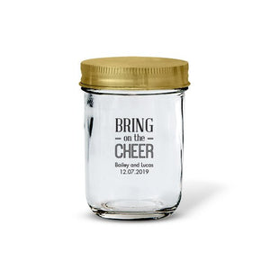 Personalized wedding favor mason jar