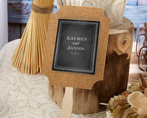 Two-Sided Burlap Fans (Set of 12)