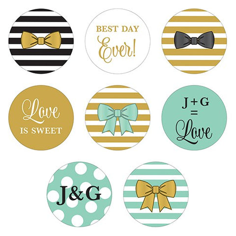 Celebration Small Round Sticker Assortment Set