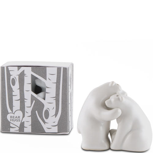 Adorable Bear Hug Wedding Favor Salt and Pepper Shaker