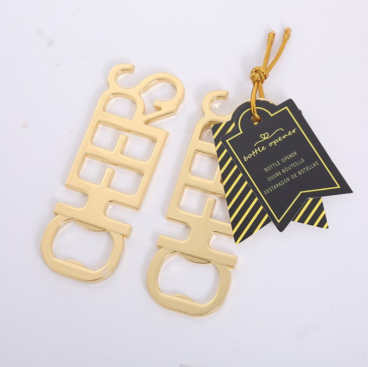 CHEERS Bottle Opener - Gold