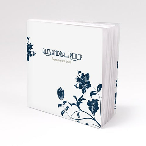 Navy Floral Notepad