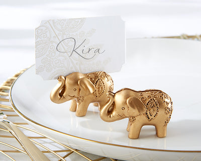 Elephant Place Card Holders - Gold