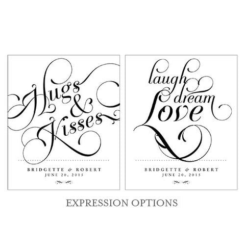 Expressions Rectangular Label