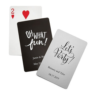 Fun Wedding Favor Deck of Cards