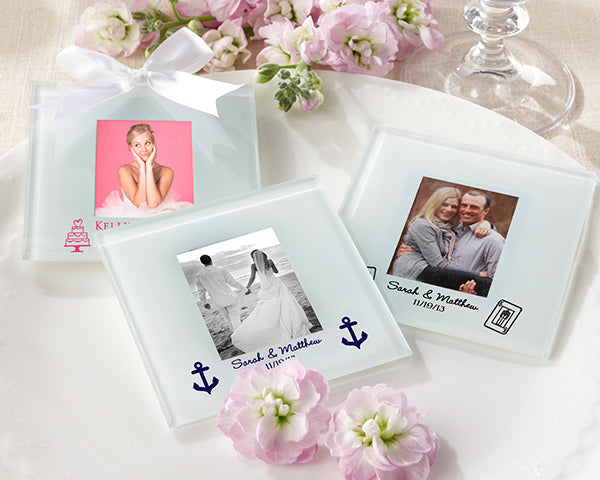 Frosted Glass Photo Coaster