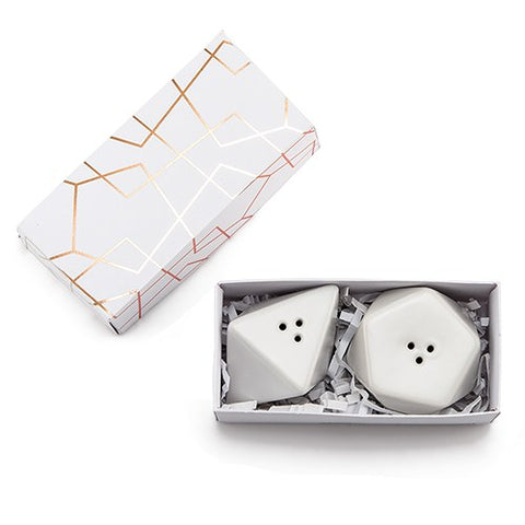 Modern Geo Salt & Pepper Shakers