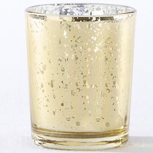 Mercury Glass Tea Light Holder - Gold