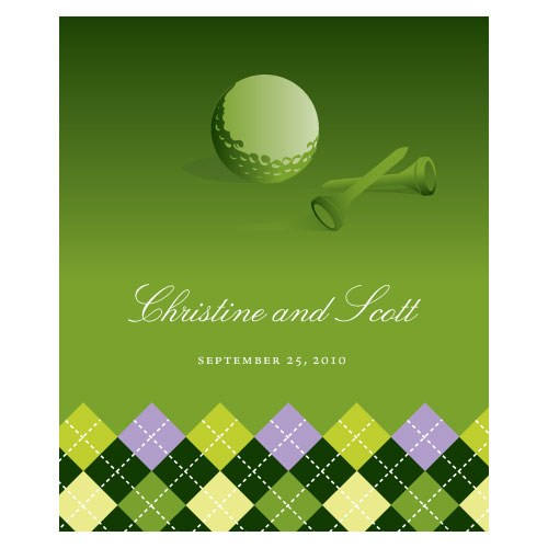 Golf Rectangular Label