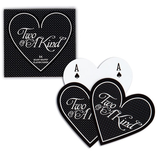 Heart shaped playing cards wedding favors