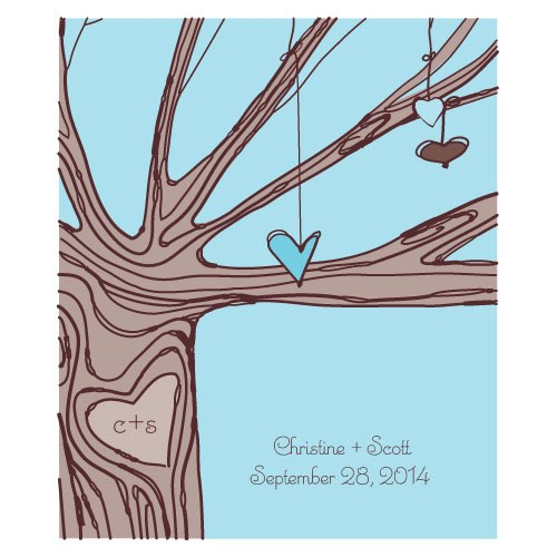 Heart Strings Rectangular Label