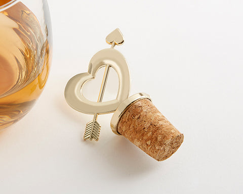 Cupid's Arrow Bottle Stopper - Gold