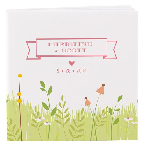 Stylish wedding favor notepad