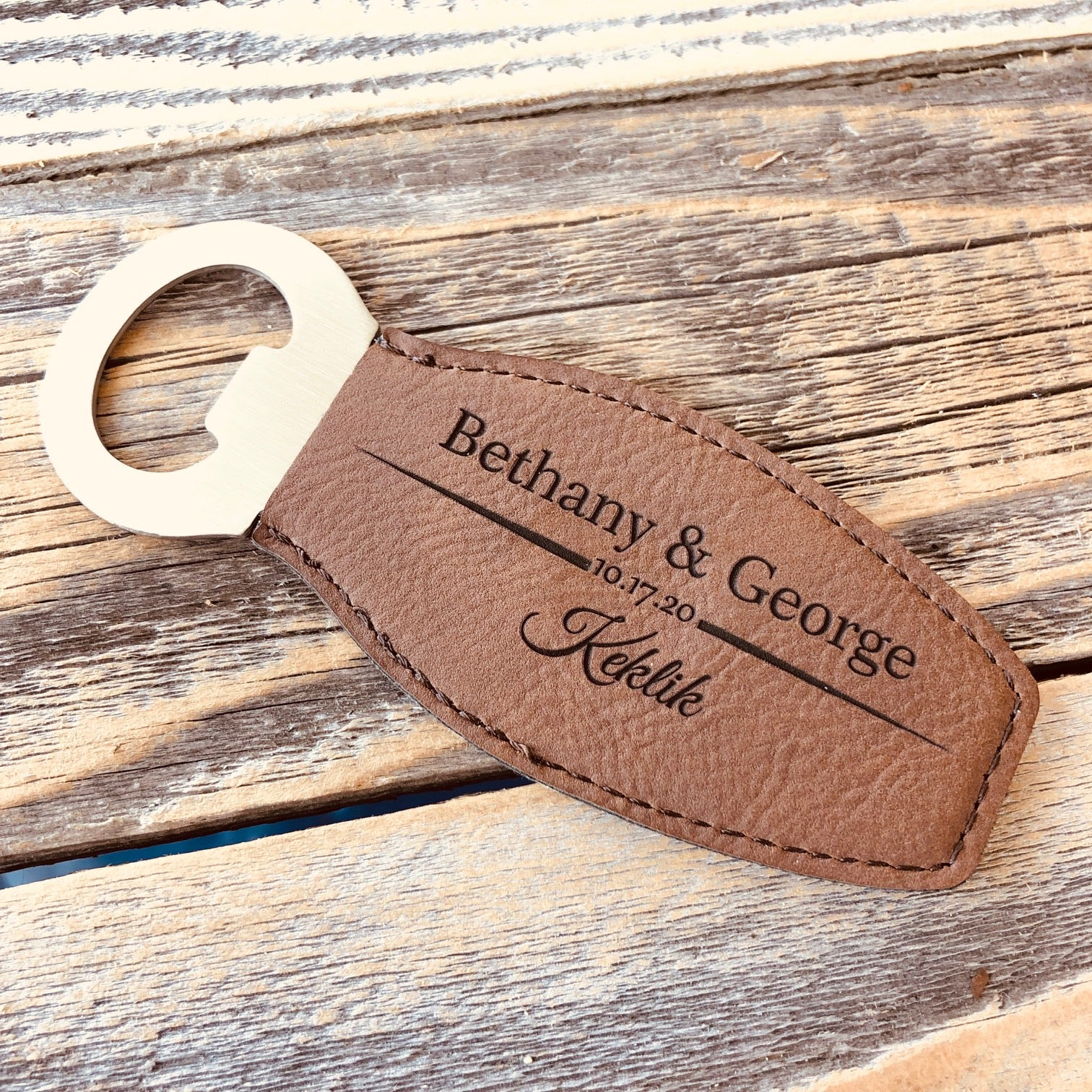 Magnetic Leather Bottle Opener