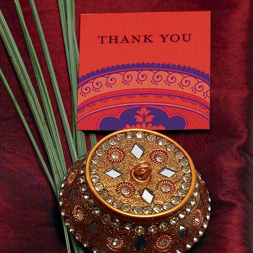 Indian Theme Favor Place Cards