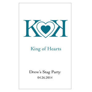 King Of Hearts Rectangular Playing Card Sticker