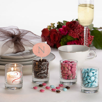 Personalized Glass Votive Cups