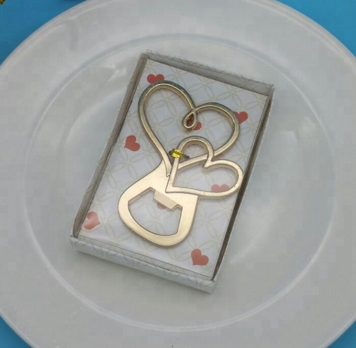 Linked Hearts Bottle Opener