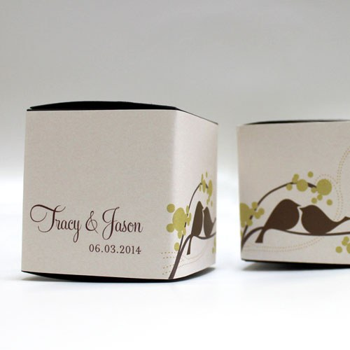 Love Bird Cube Favor Box