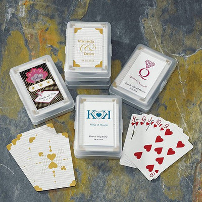 Hearts of Gold Playing Cards With Case