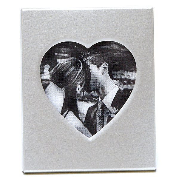 Mini Magnet Back Aluminum Heart Photo Frames