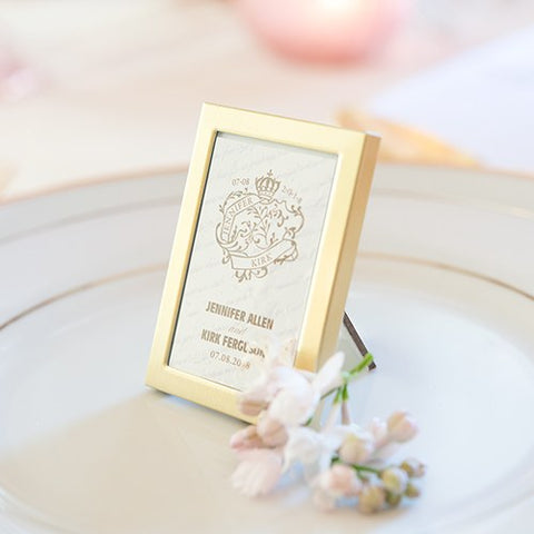 Mini Photo Frame Favor In Gold Or Silver Easel