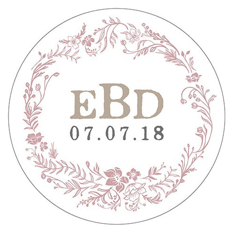 Modern Fairy Tale Small Sticker - Floral Wreath