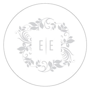 Monogram Simplicity Small Sticker - Botanical Wreath